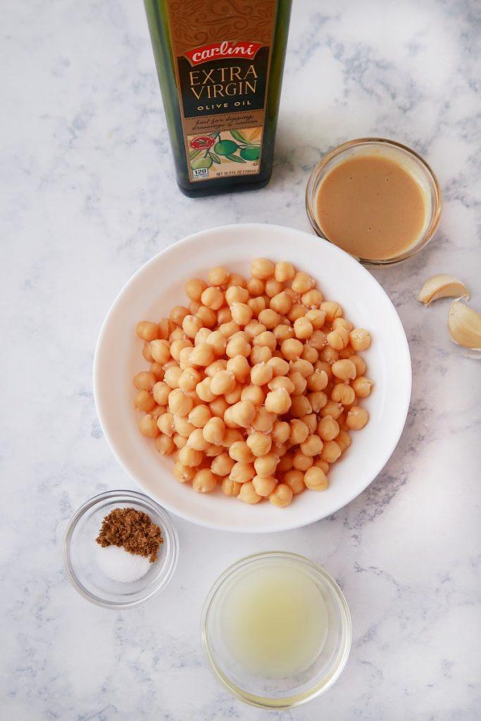 Ingredients for hummus.