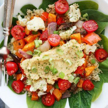 Healthy salad in a bowl.