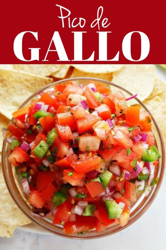 Pinterest photo collage for pico de gallo.