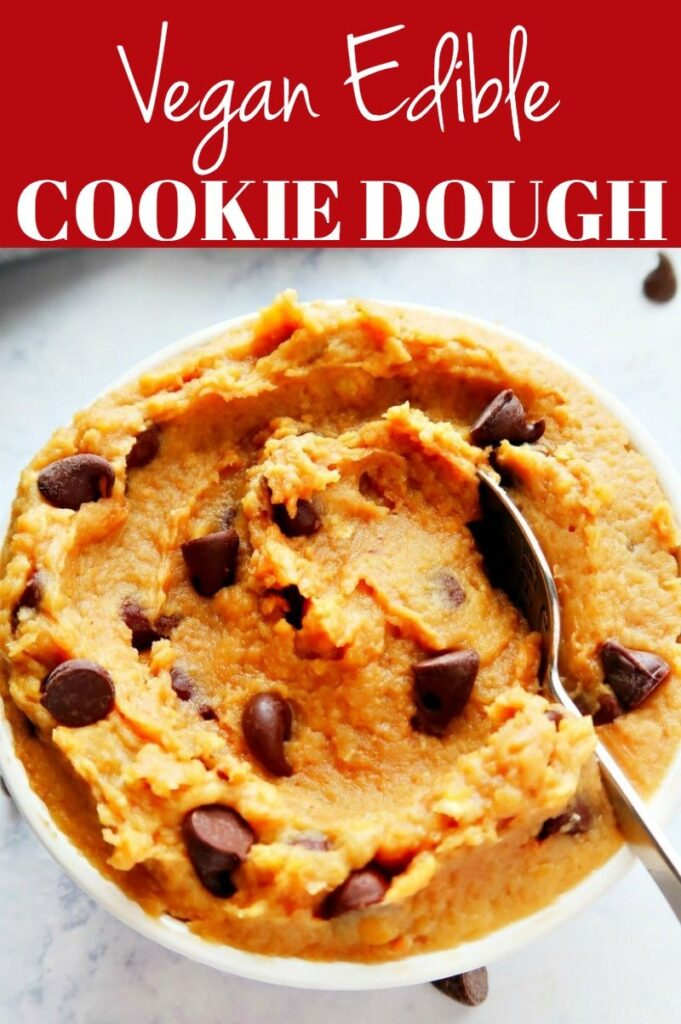 Pinterest photo collage for edible cookie dough.